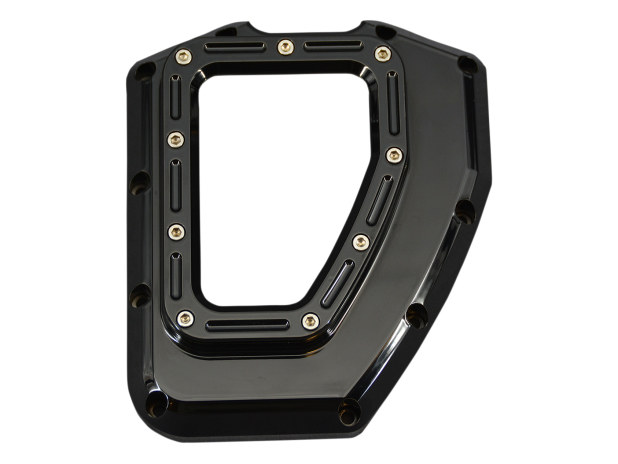 Assault Clear Cam Cover – Gloss Black. Fits Twin Cam 2001-2017.