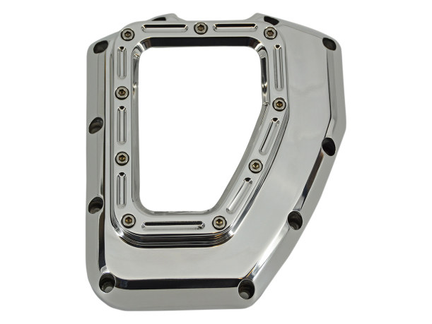 Assault Clear Cam Cover – Chrome. Fits Twin Cam 2001-2017.