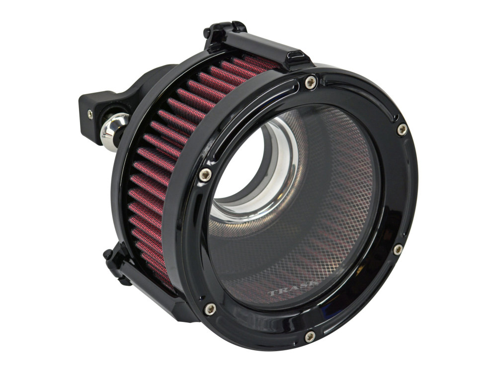 Assault Clear Air Cleaner Kit – Gloss Black. Fits Sportster 1991up.