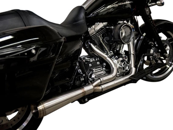 Assault 2-into-1 Exhaust - Stainless Steel. Fits Softail 2018up.