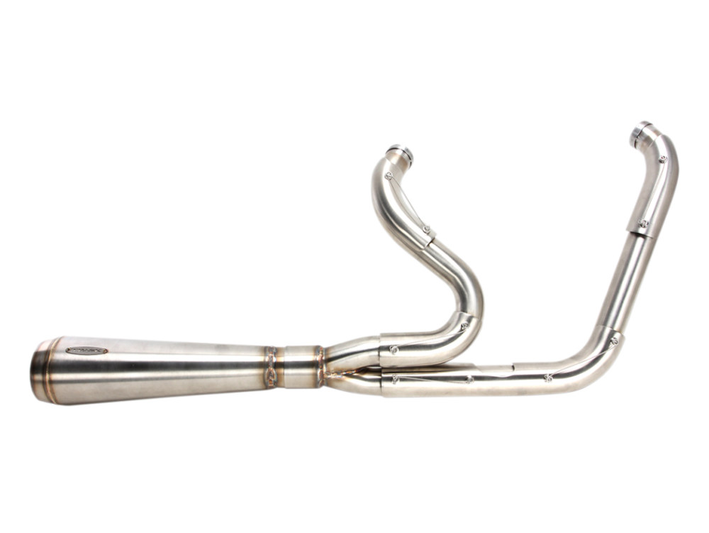 Assault 2-into-1 Exhaust - Stainless Steel. Fits Softail 2000-2017.