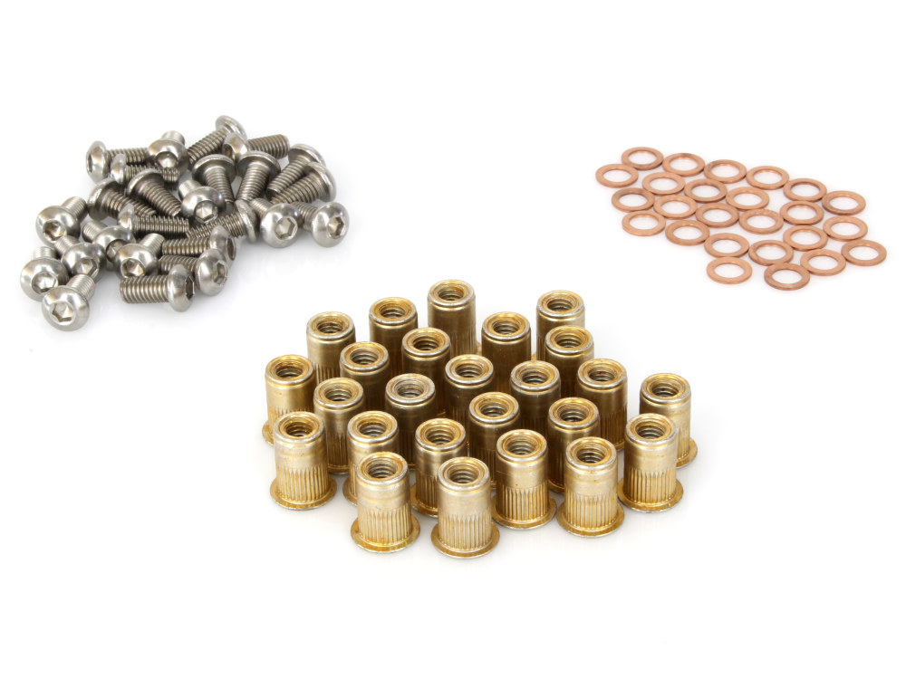 O2 Installation Kit RefillKit Includes:25 Rivnuts, 25 screws and 25 copper washers