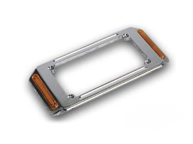Number Plate Frame with Turn Signals & Chrome Finish.