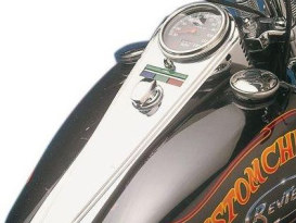 Dash Cover; Long Mirage Style, Big Twin'68-95, Chrome Finish