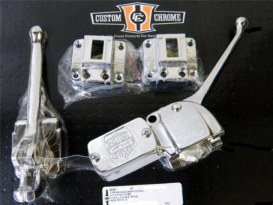 Handlebar Control Kit; Big Twin & Sportster'72-81. Excludes Wiring & Switches