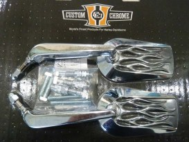 Mirrors; Inferno, Left or Right, Chrome Finish (Pair)