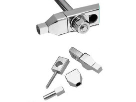 Rear Pyramid Style Axle Adjusters with Chrome Finish. Fits Big Twin 1973-1986 & Sportster 1979-2003 Models.