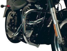 Front Engine Guard with Chrome Finish. Fits Softail 2000-2010.