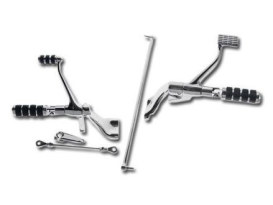 Custom Chrome Forward Controls; Sportster'04-13, Chrome Finish. Includes ISO Style Pegs