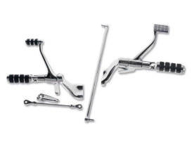 Custom Chrome Forward Controls; Sportster'14up, Chrome Finish. Includes ISO Style Pegs