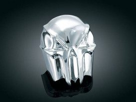 Horn Cover; Skull, Big Twin'93up, Chrome Finish