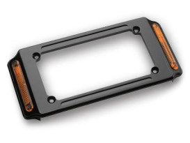Number Plate Frame with Turn Signals & Black Finish.