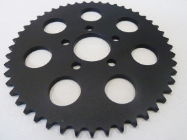 48 Tooth Rear Sprocket - Black. Fits Big Twin & Sportster 2000up.