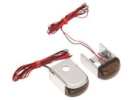 Strut Light Kit Suits FXD Dyna 1991-2005 Red Run/Brake Amber Turn - Chrome.