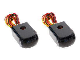 Strut Light Kit Suits FXD Dyna 1991-2005 Red Run/Brake & Amber Turn Signal - Black.