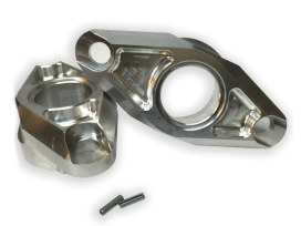 Heavy Duty Alloy Pivot Block Covers with Raw Finish. Fits FXR 1982-1994.