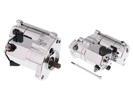 1.4kw Starter Motor with Chrome Finish. Fits Big Twin 1989-2006.