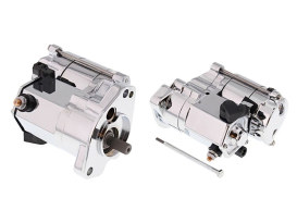 1.7kw Starter Motor with Chrome Finish. Fits Big Twin 1989-2006.