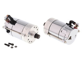 1.4kw Hitachi Starter Motor - Chrome. Fits Big Twin 1970-1988.
