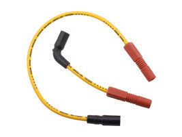 Spark Plug Wire Set - Yellow. Fits Sportster 2007up.