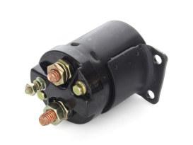 Starter Solenoid - Black. Fits 4 Speed Big Twin 1965-1986, Softail 1984-1988 & Sportster 1967-1980.
