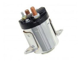 Accel Starter Solenoid; Big Twin'79-88, FXR 5 Speed & FLT 5 Speed, Chrome Finish.  Exclude Softail