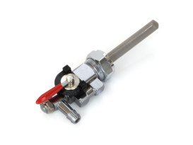 Horizontal Rotating Fuel Outlet Petcock - Chrome, with 22mm Thread & 5/16in. Outlet.