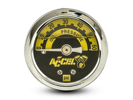 60psi Oil Pressure Gauge - Chrome.