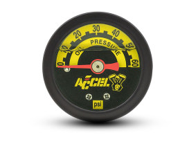 60psi Oil Pressure Gauge - Black.