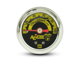 100psi Oil Pressure Gauge - Chrome