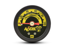 100psi Oil Pressure Gauge - Black.