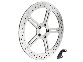 15in. Left Hand Front Big Brake Disc Rotor. Fits Softail 2015-2017 & Dyna 2006-2017.