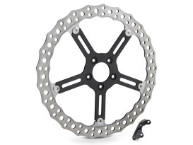 15in. Left Hand Front Jagged Big Brake Disc Rotor. Fits Softail 2000-2014 & Dyna 2000-2005.