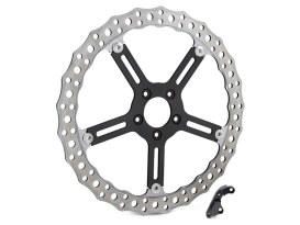 15in. Left Hand Front Jagged Big Brake Disc Rotor. Fits Softail 2015-2017 & Dyna 2006-2017.