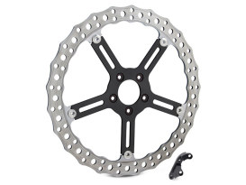 15in. Left Hand Front Jagged Big Brake Disc Rotor. Fits Softail Street Bob, Breakout & Low Rider 2018up.