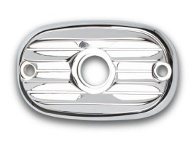 Master Cylinder Cover; Rear, Big Twin'06up & Tourer'05up, Retro with Chrome Finish