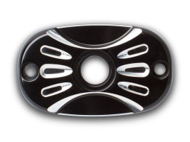 Rear Deep Cut Master Cylinder Cover - Black. Fits Big Twin 2006up & Touring 2005up.