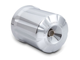 Billet Re-Useable Oil Filter, Deep Cut with Chrome Finish.