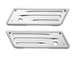 Deep Cut Saddlebag Latch Covers with Chrome Finish. Fits Touring 2014up.