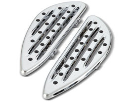 Deep Cut Front Floorboards - Chrome. Fits FLST 1986up, Road King 1994up & FLT 1982up.