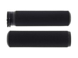 Knurled Fusion Handgrips - Black. Fits H-D with Throttle Cable.