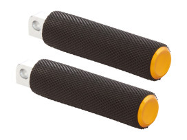 Knurled Fusion Footpegs - Gold. Fits H-D.