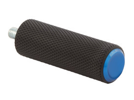 Knurled Fusion Shiftpeg - Blue. Fits H-D.