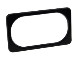 Number Plate Frame with Smooth Black Finish.