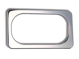 Number Plate Frame with Smooth Chrome Finish.
