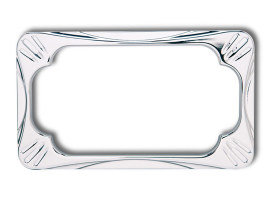 Number Plate Frame - Deep Cut Chrome.