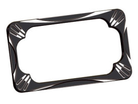 Number Plate Frame with Deep Cut Black Finish.