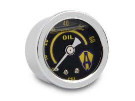 Replacement Oil Pressure Gauge. 1-1/2in. - Chrome.