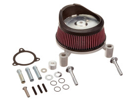 Stage 1 Big Sucker Air Filter Assembley with Backing Plate in Natural Finish. Fits Touring 2014-2016 with Throttle-by-Wire.