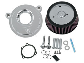 Stage 1 Big Sucker Air Filter with Backing Plate in Chrome Finish. Fits Softail 2000-2014, Dyna 1999-2017 & Touring 2002-2007 Models.